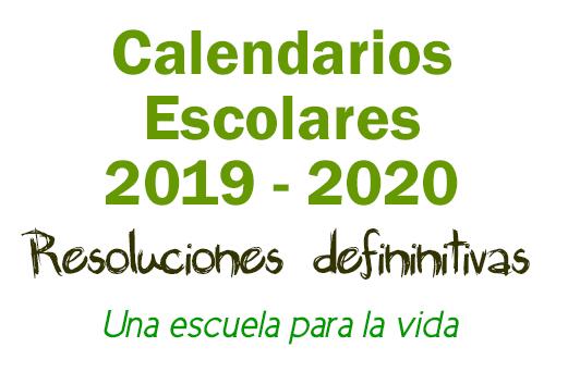 Calendarios Escolares curso 2019-2020 en Andalucia