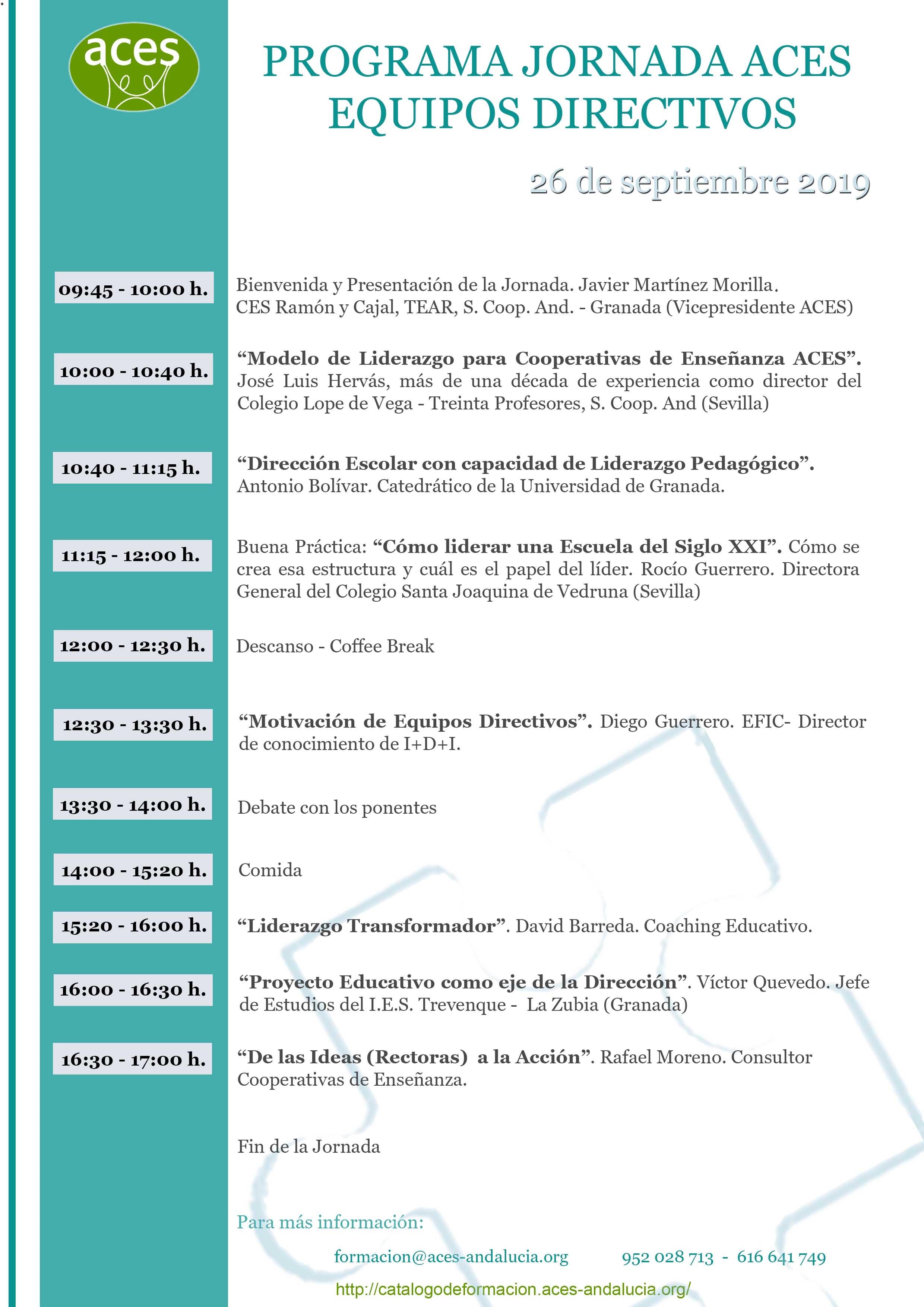 Programa Jornada Equipos Directivos