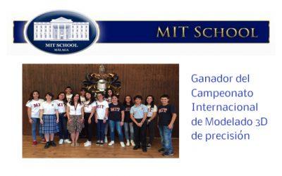 Colegio MIT School. Ganador del Campeonato Internacional de Modelado 3D de precisión