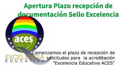 Apertura Plazo recepción de documentación Sello Excelencia ACES – Convocatoria 2019-2020
